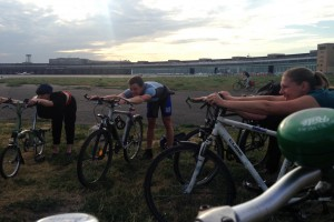 YogaCycling Radler-Gruß Fahrrad Yoga