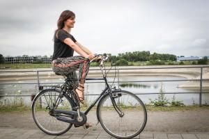 YogaCycling Fahrrad Yoga Taube